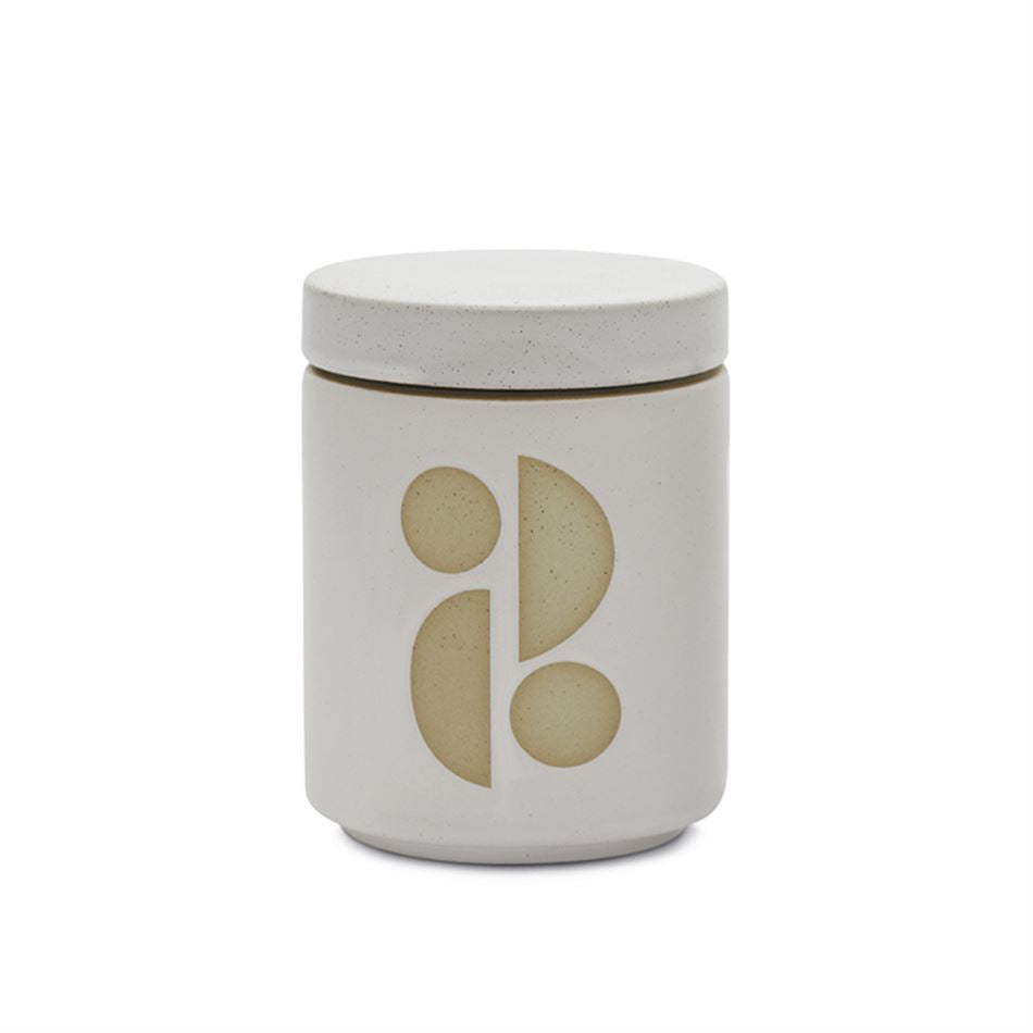 White Glazed 12oz Candle Tobacco Flower