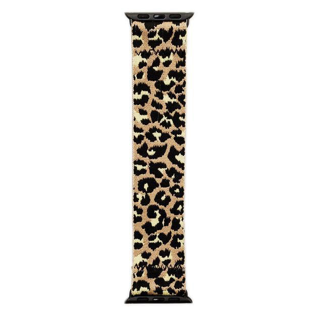 Stretch Watch Band Tan Leopard