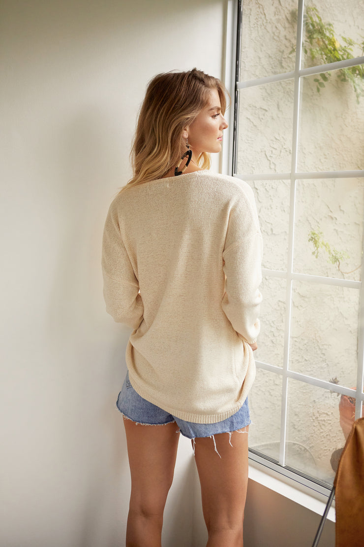 Messina Side Tie Sweater