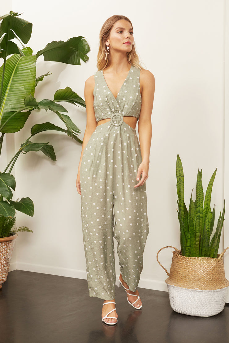 Ziggy Polka Dot Cut Out Jumpsuit