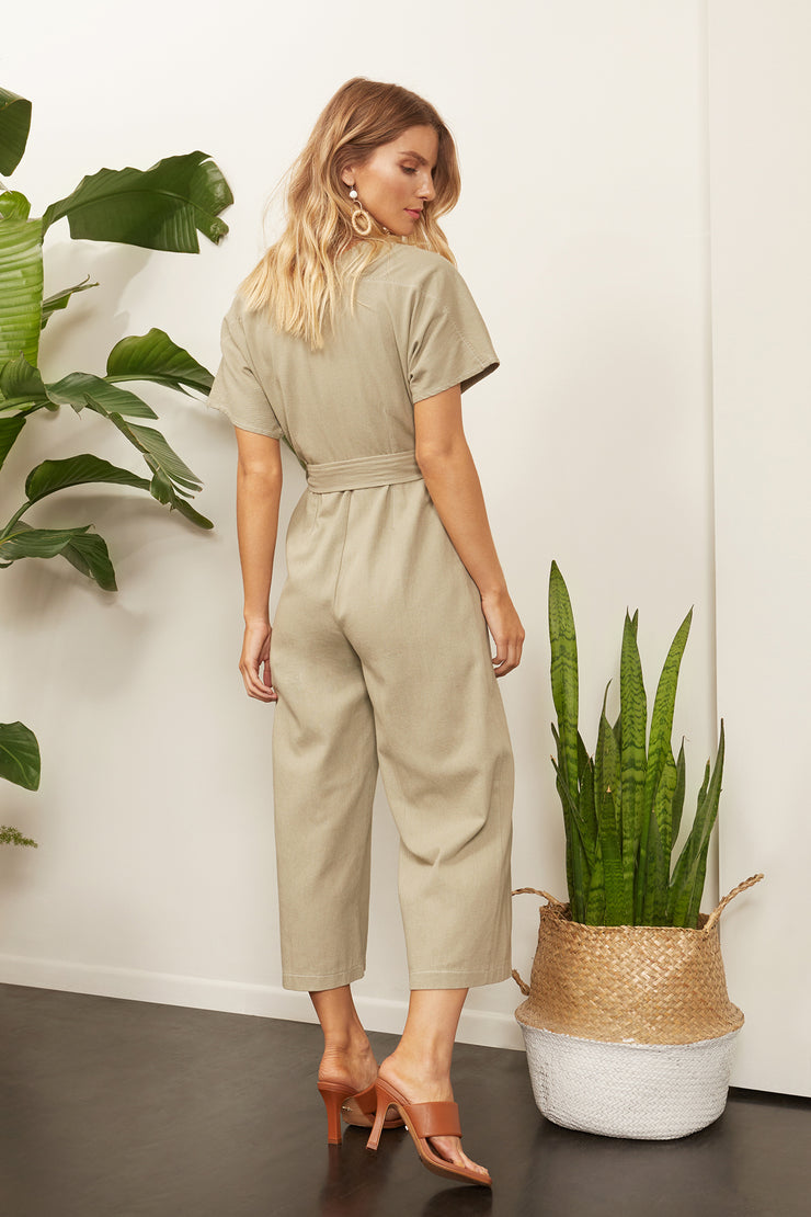 Sequoia Twill Button Up Jumpsuit