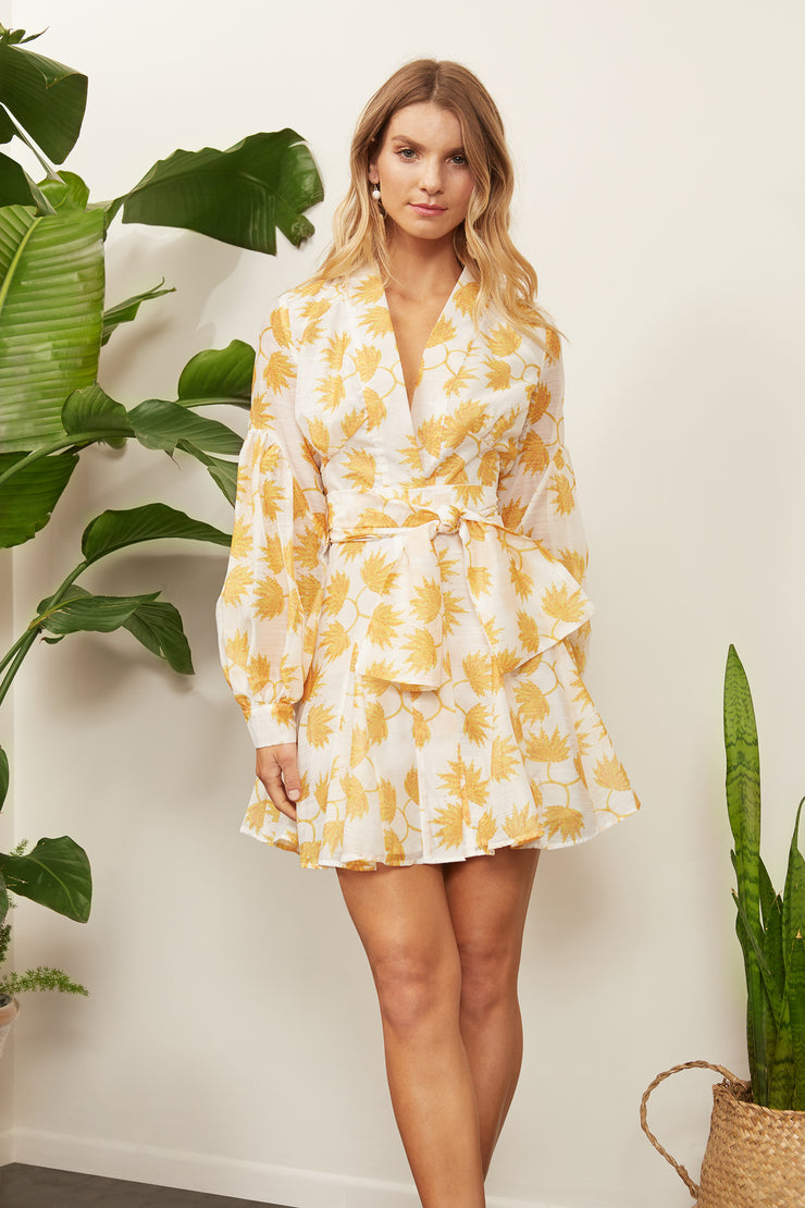 Tinsley Floral Balloon Sleeve Dress