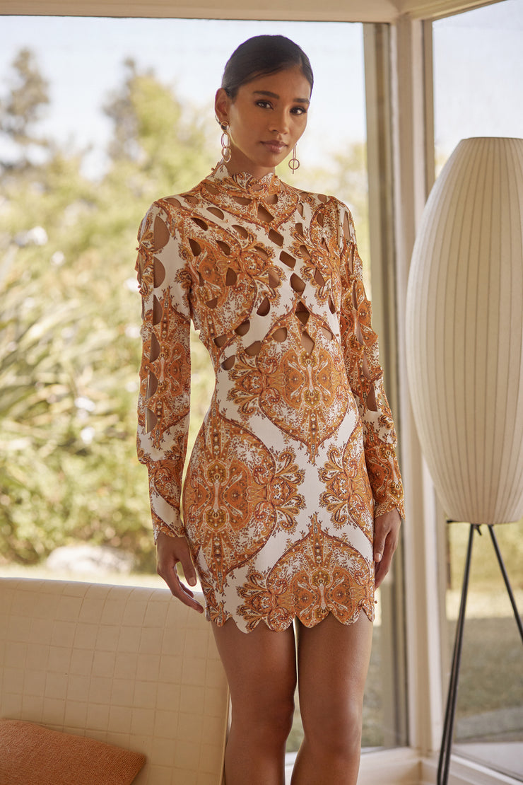 Gypsy Laser Cut Studded Dress