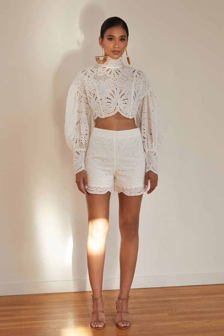 Yasmin Embroidered Short Set