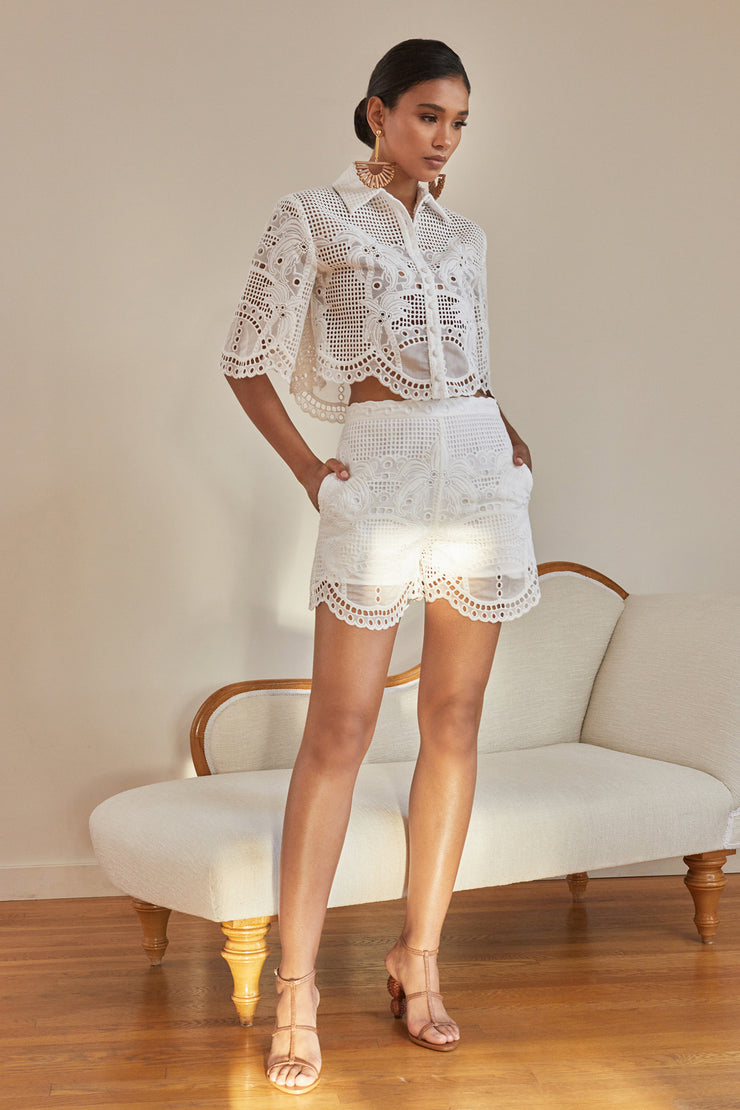 Luella Eyelet Short Set