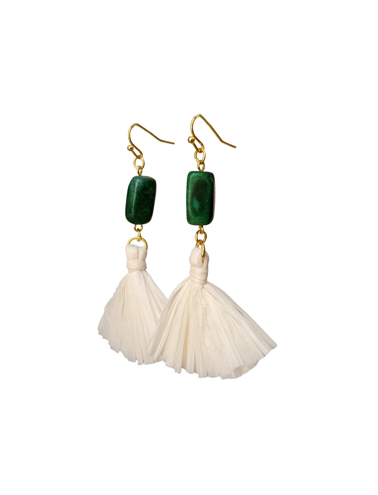 Antigua Drop Fan Earrings