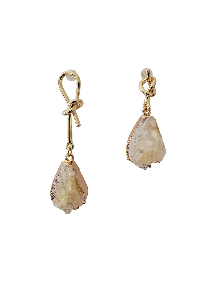 Lemmy Natural Stone Drop Earring