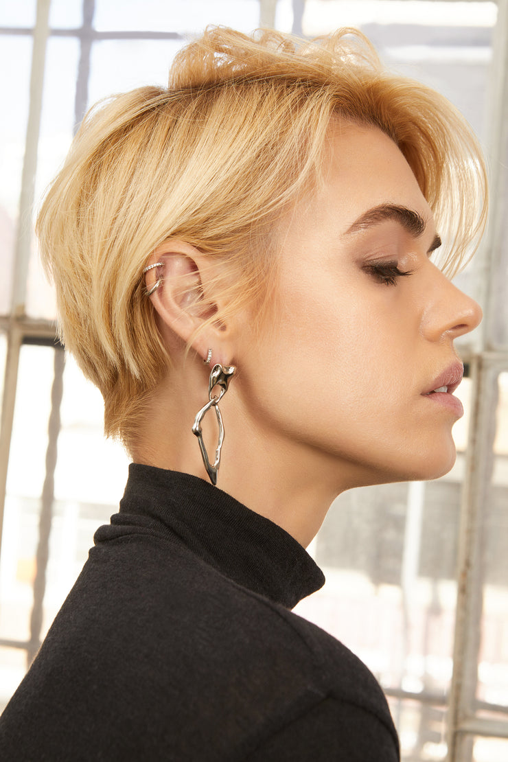 Emerson Silver Abstract Earrings