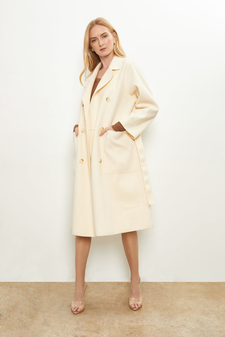 Iva Double Breast Long Coat