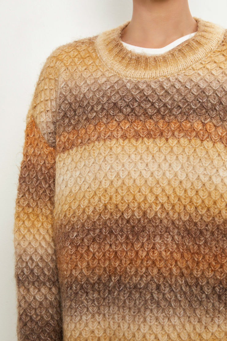 India Ombre Fish Scale Sweater