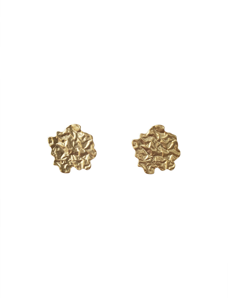 Matte Gold Flat Foil Earrings