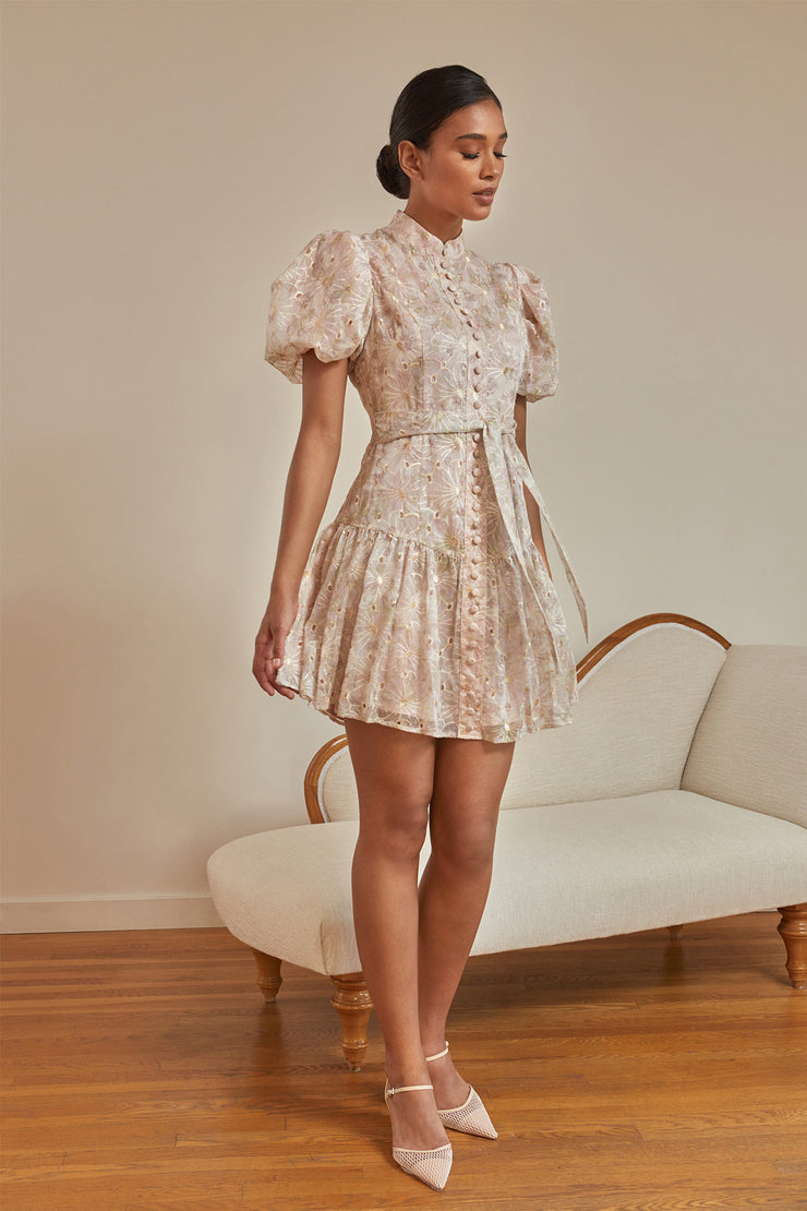 Odette Floral Stitched Organza Dress
