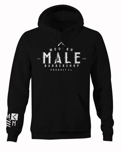 Black Hoodie Product Logo and Crest On Sleve
