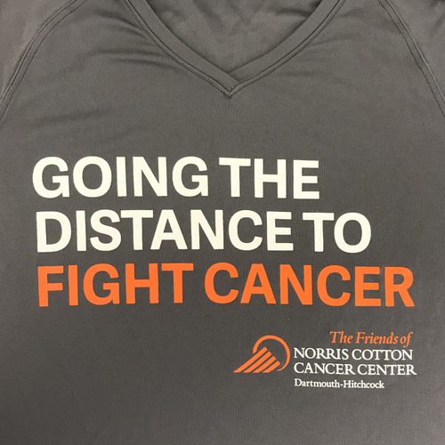 Men's and Women's Going the Distance to Fight Cancer Wicking T-shirt. New Item!