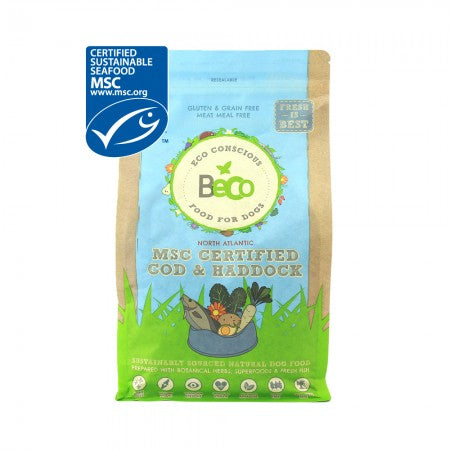 Beco Eco Conscious Natural Dog Food MSC Certified Cod & Haddock - The Norfolk Groomshed