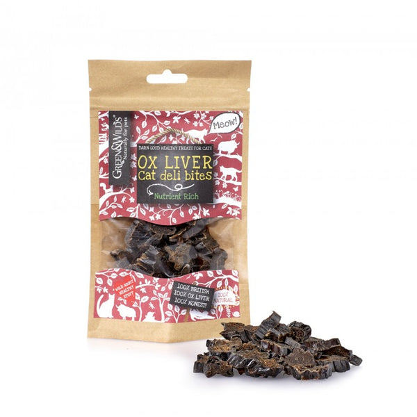 Green & Wilds Ox Liver Bites for Cats - The Norfolk Groomshed
