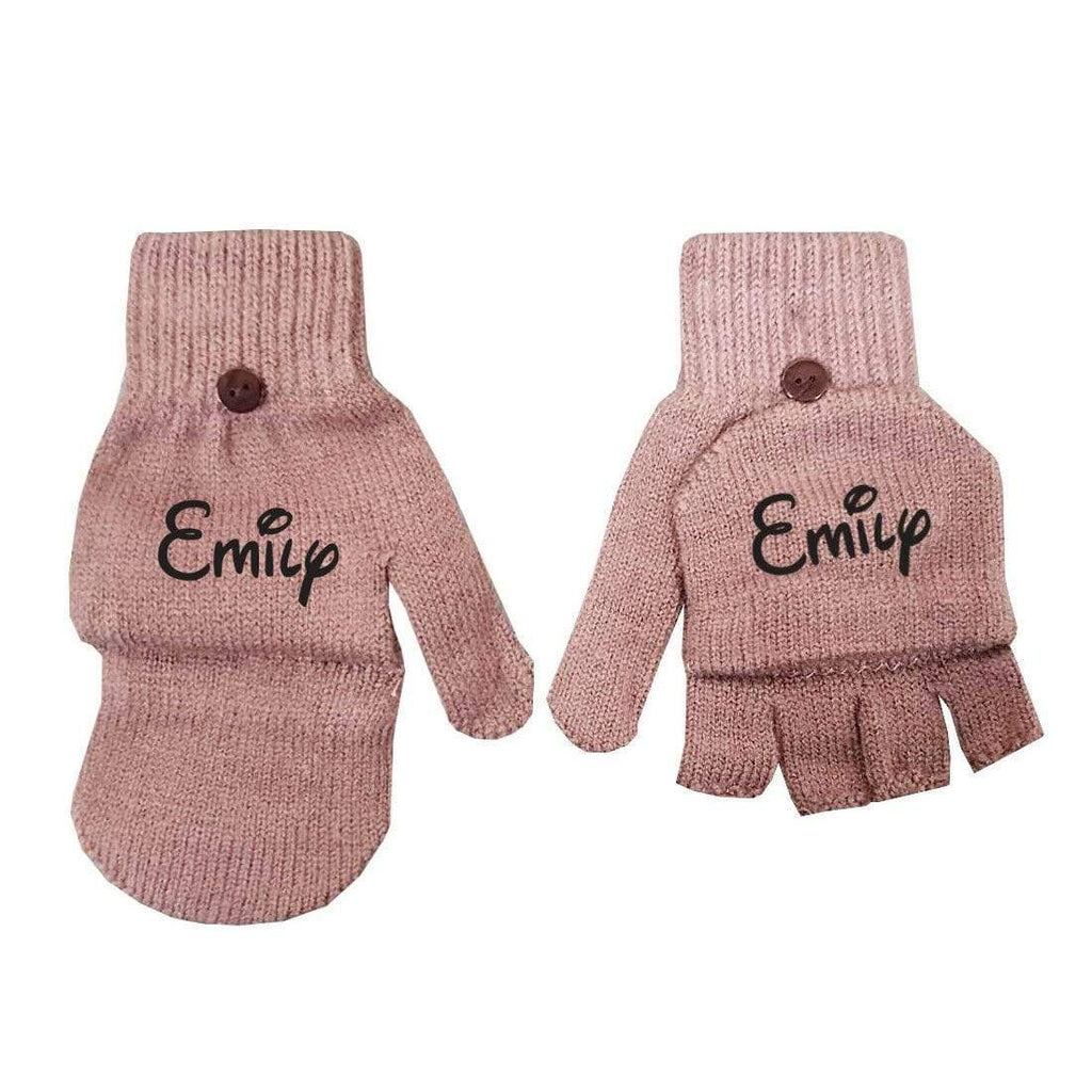 Personalise Name Kids Teenagers Adults Unisex Boys Girls Winter Fashion Gloves