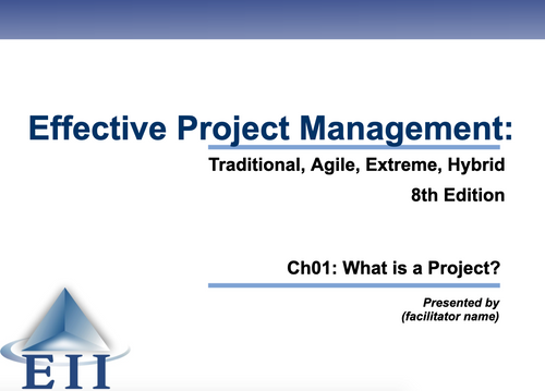 EPM8e Slides Ch01 What is a project