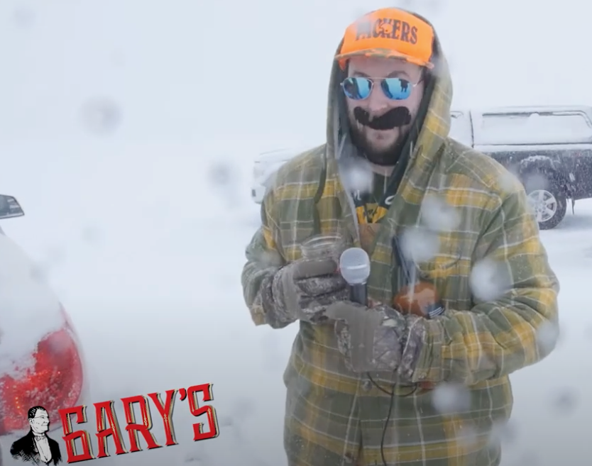 Gary's Bloody Mary Mix On Bago with Bill The Packer Fan
