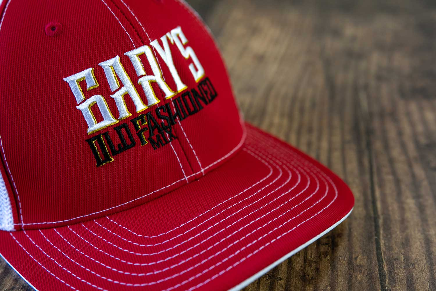 Gary's Old Fashioned Mix Logo Hat - Red/White