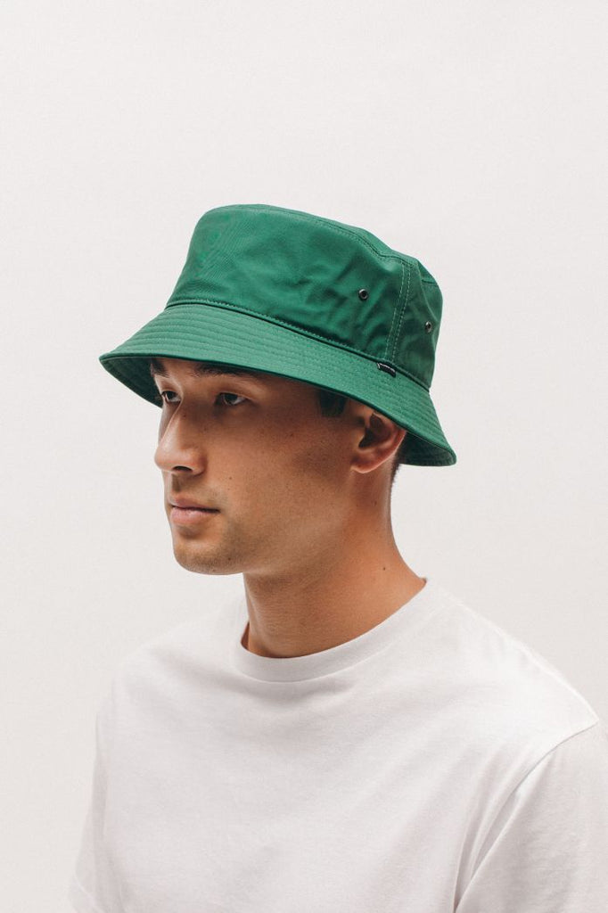 NYLON BUCKET CAP - EVERGREEN