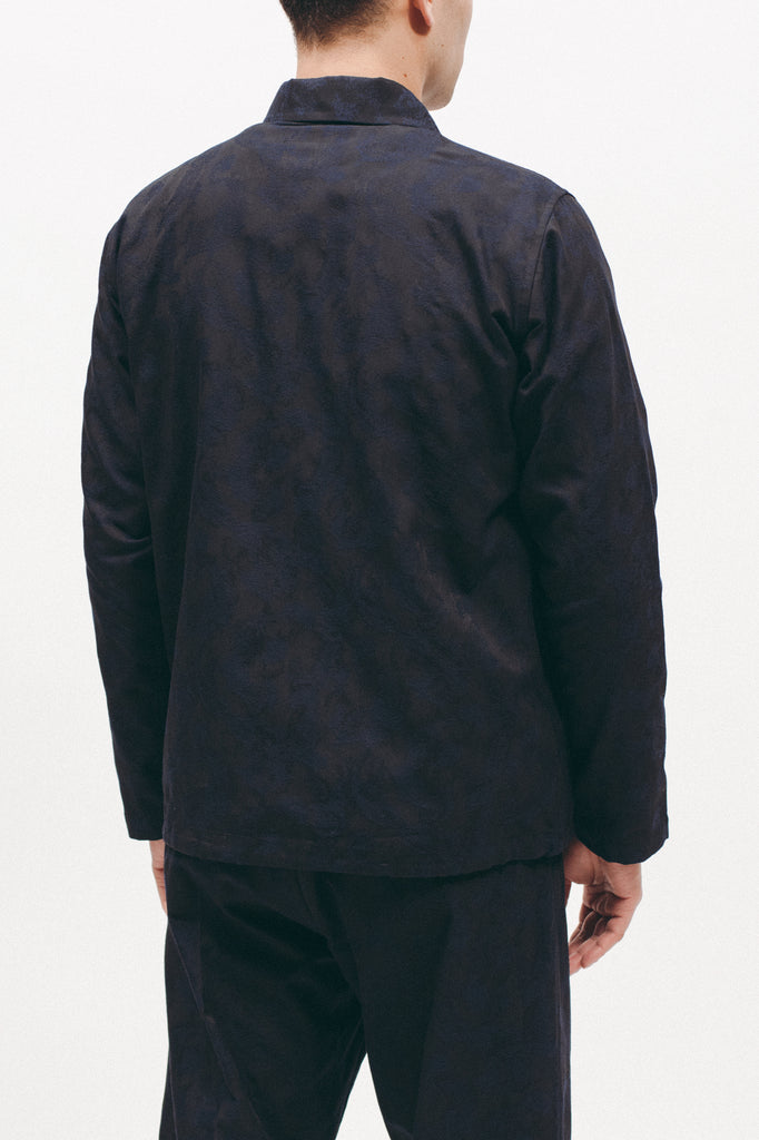 PAISLEY ZIP SHIRT - NAVY