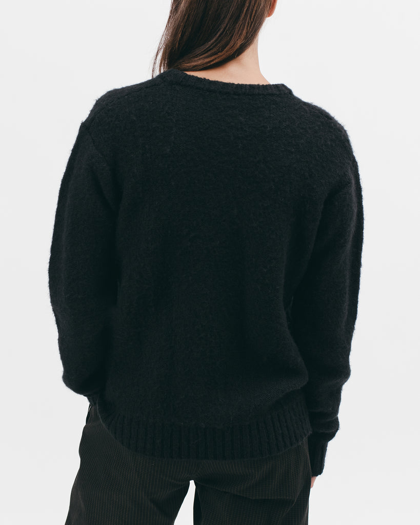 MOHAIR SWEATER - BLACK