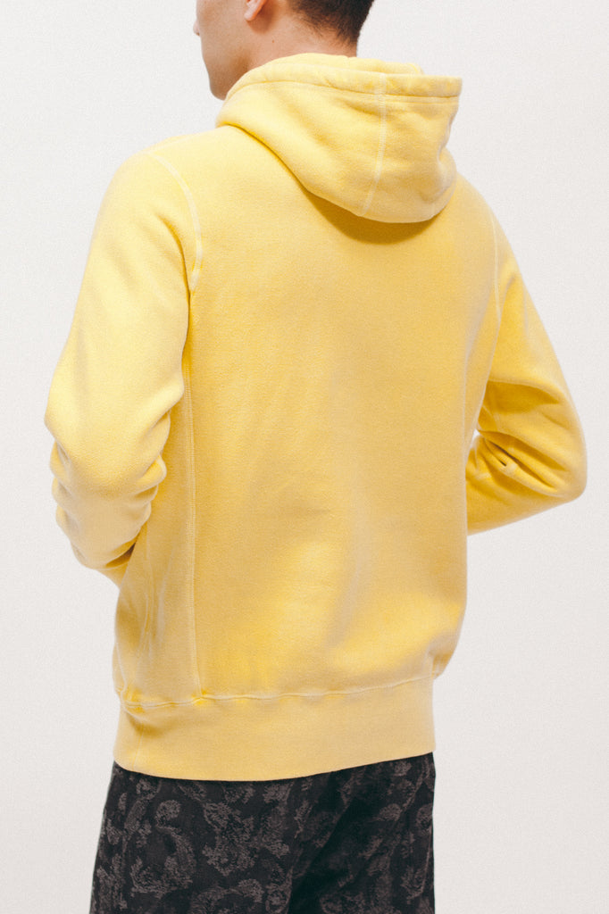 NATURAL DYED HOODIE FLEECE - LEMON