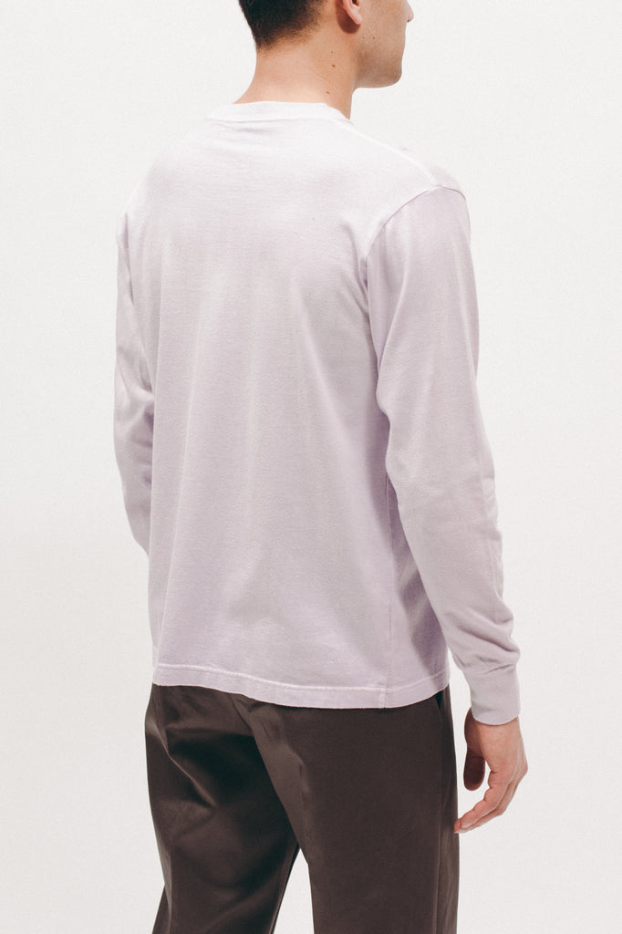 NATURAL DYED BLOCK LS JERSEY - LAVENDER