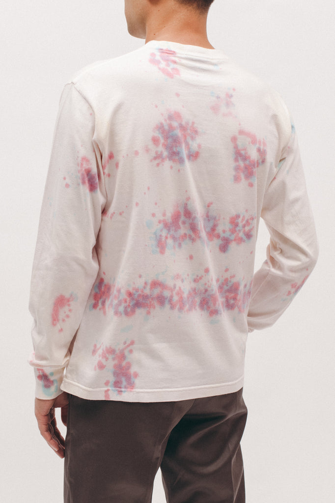 NATURAL DYED BLOCK LS JERSEY - TIE DYE