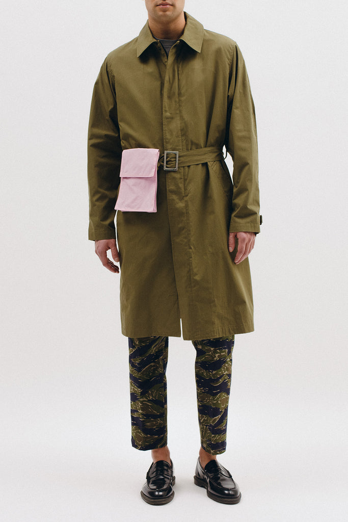BELTED OVERCOAT - TROPICAL GREEN