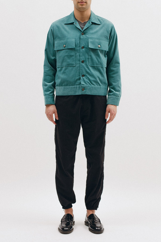 CORDUROY RANCH JACKET - DUSTY TEAL
