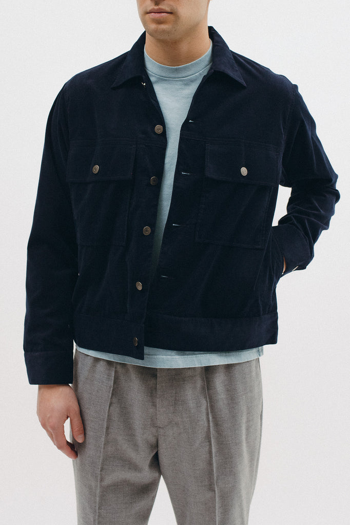 CORDUROY RANCH JACKET - NAVY