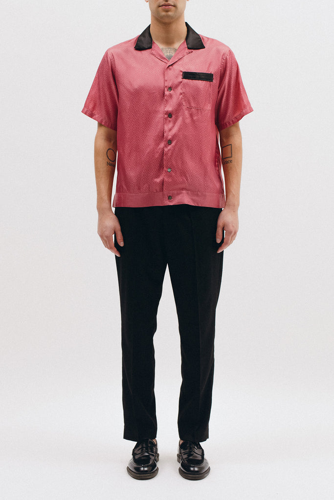 TILE SS WOVEN SHIRT - CORAL