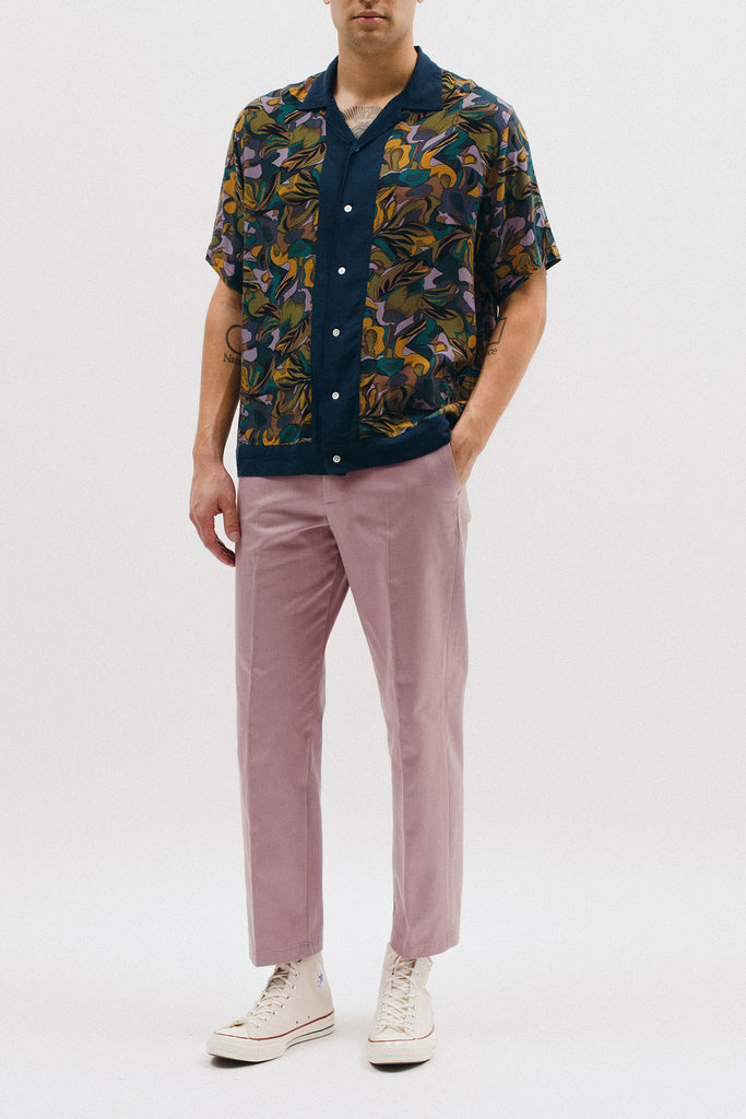 TROPICAL SS WOVEN SHIRT - LAVENDER