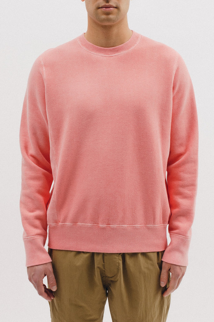 NATURAL DYED CREW - CORAL