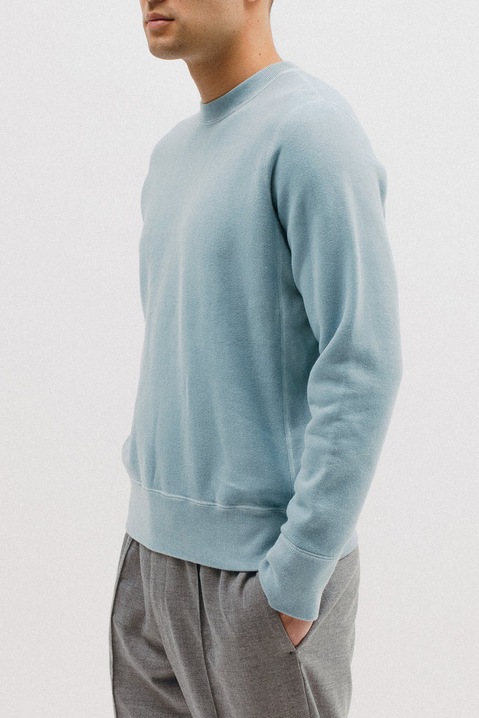 NATURAL DYED CREW - DUSTY TEAL