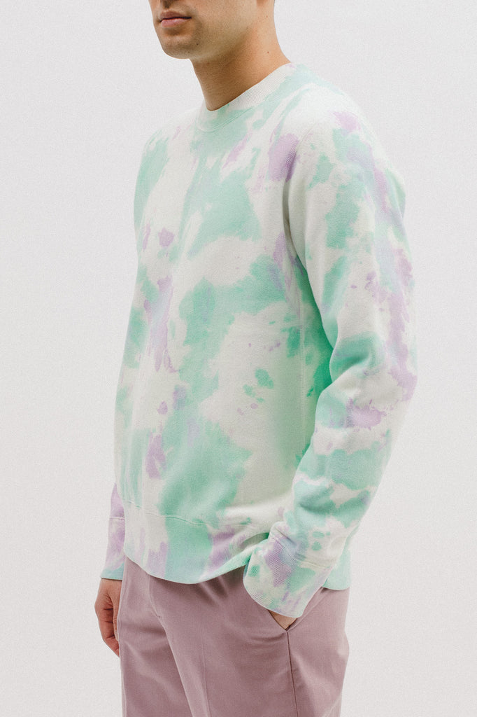 NATURAL DYED CREW - TIE DYE