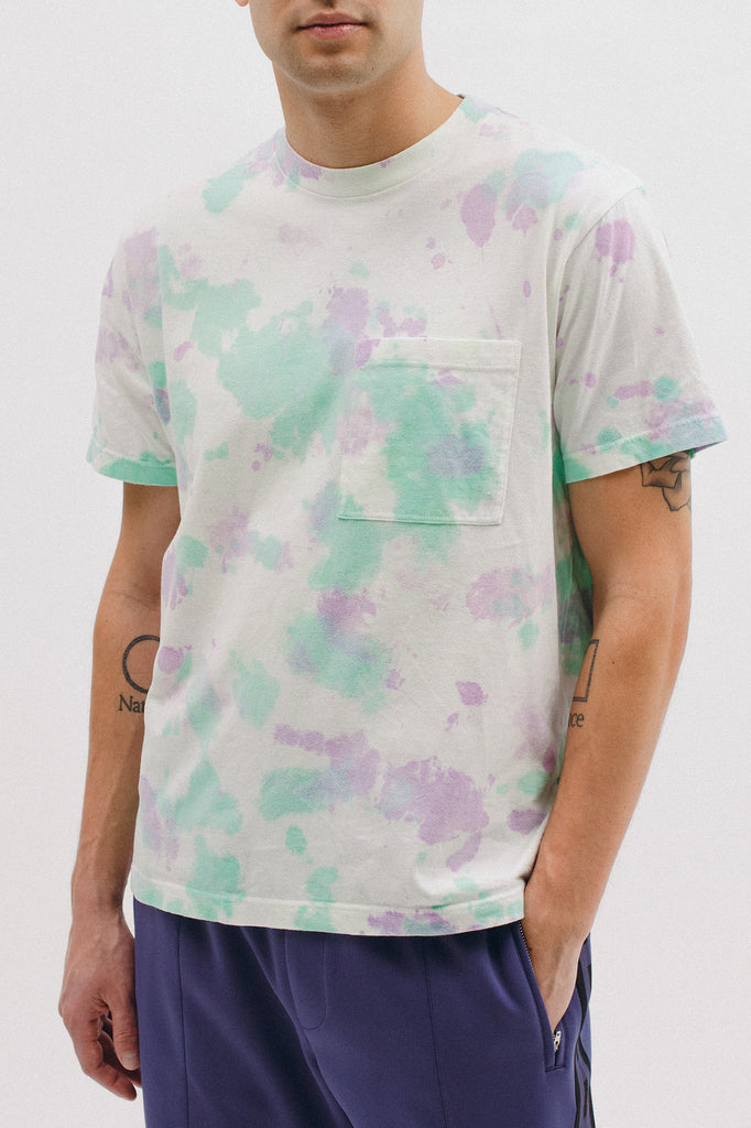 NATURAL DYED BLOCK SS JERSEY - TIE DYE