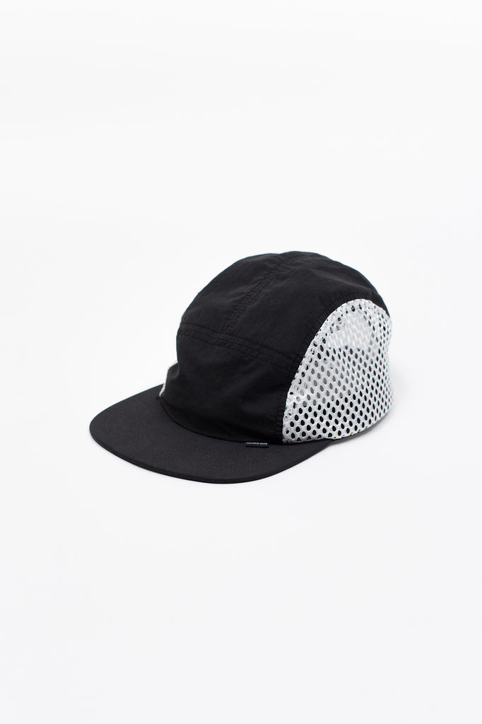 BRUSH NYLON SPORTS CAP - BLACK
