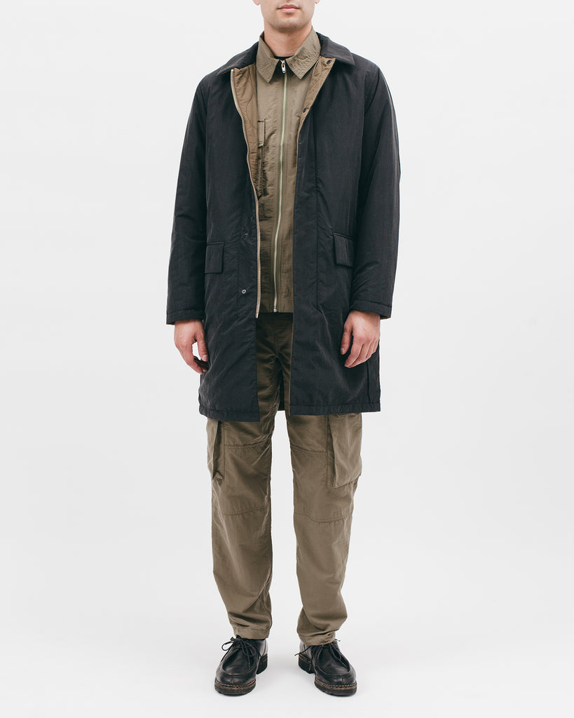 REVERISBLE MAC COAT - ACID BLACK / OLIVE DRAB