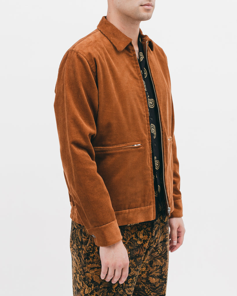 HARRINGTON JACKET - CAMEL CORD