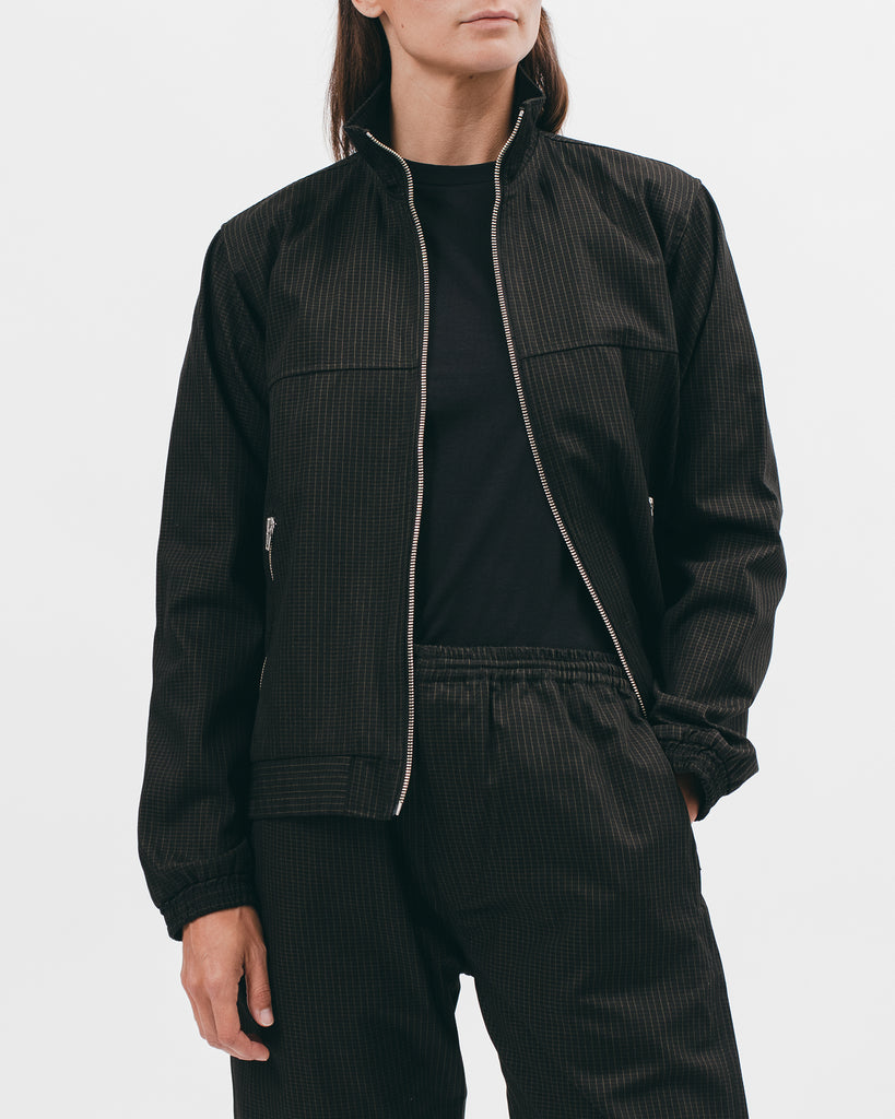 TRACK JACKET - BLACK GRID