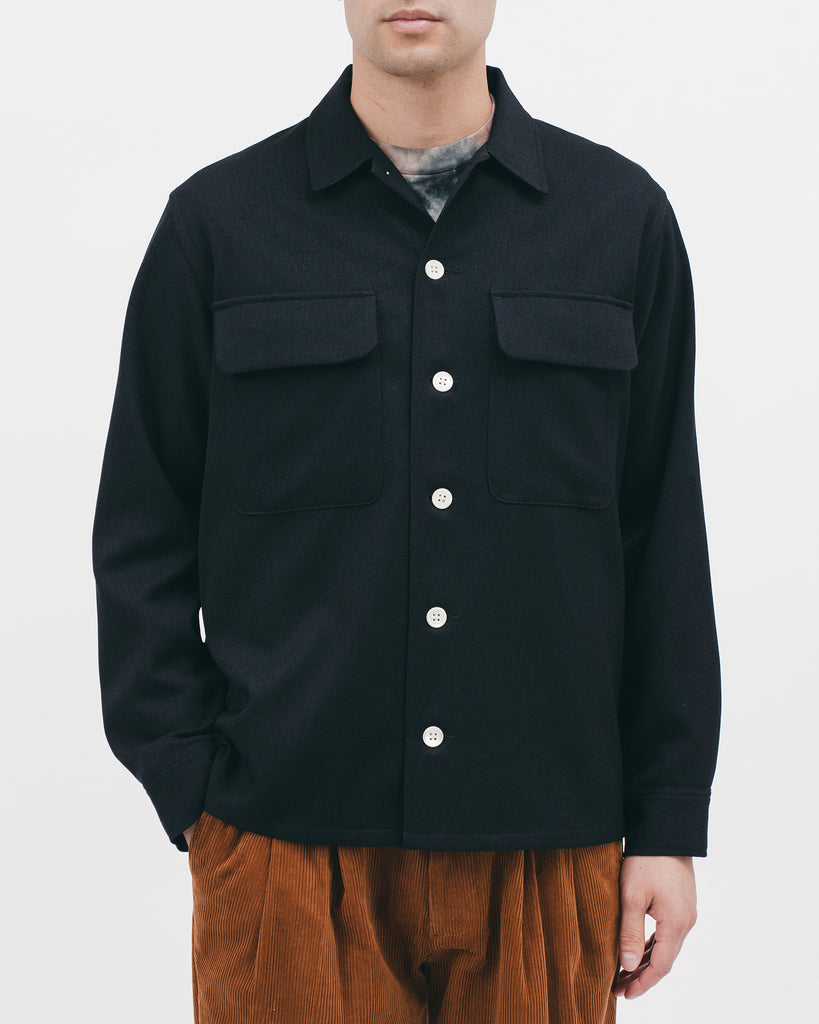 BOXY LS SHIRT - MIDNIGHT