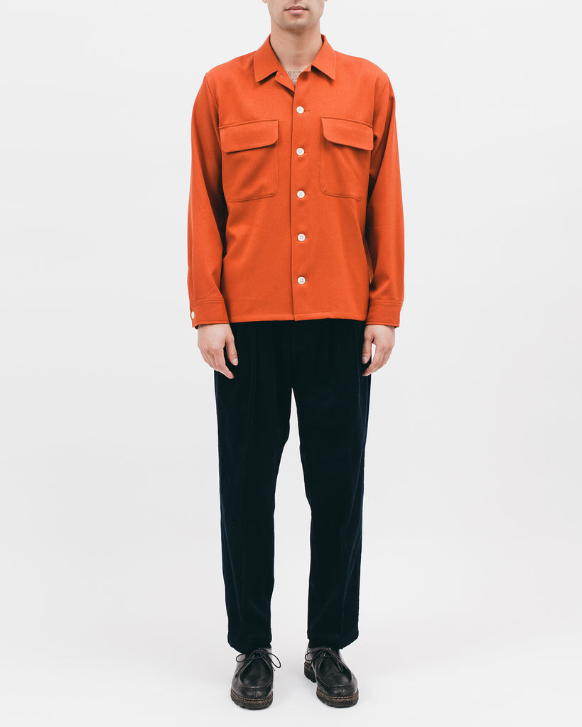 BOXY LS SHIRT - TERRACOTTA