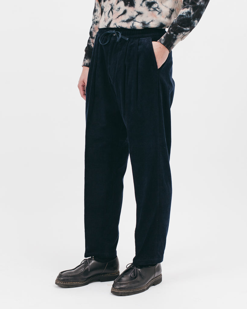 ELASTIC TROUSER - MIDNIGHT CORD