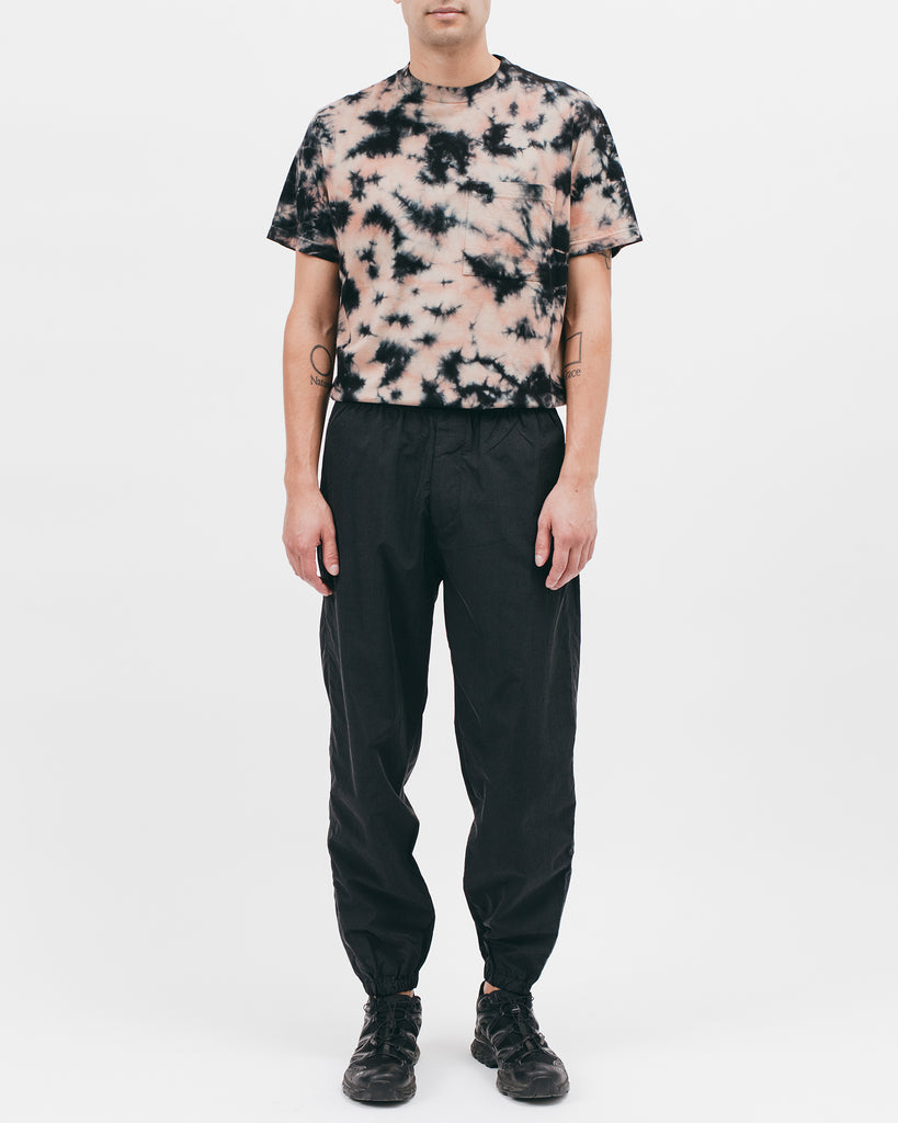 ELASTIC TRACK TROUSER - ACID BLACK