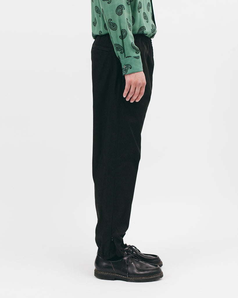 ELASTIC TRACK TROUSER - BLACK GRID