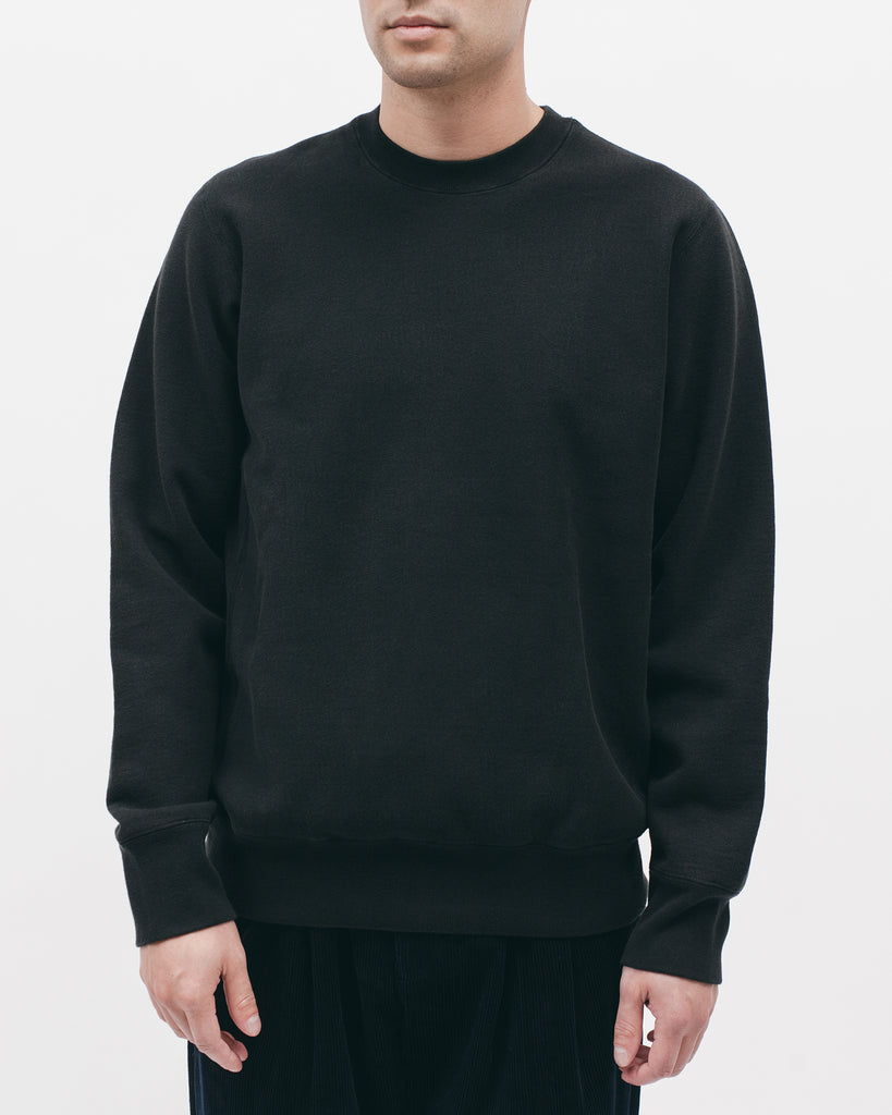 NATURAL DYED CREW - BLACK