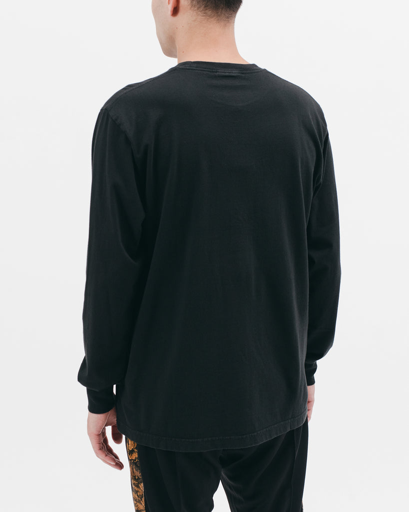 NATURAL DYED BLOCK LS JERSEY - BLACK